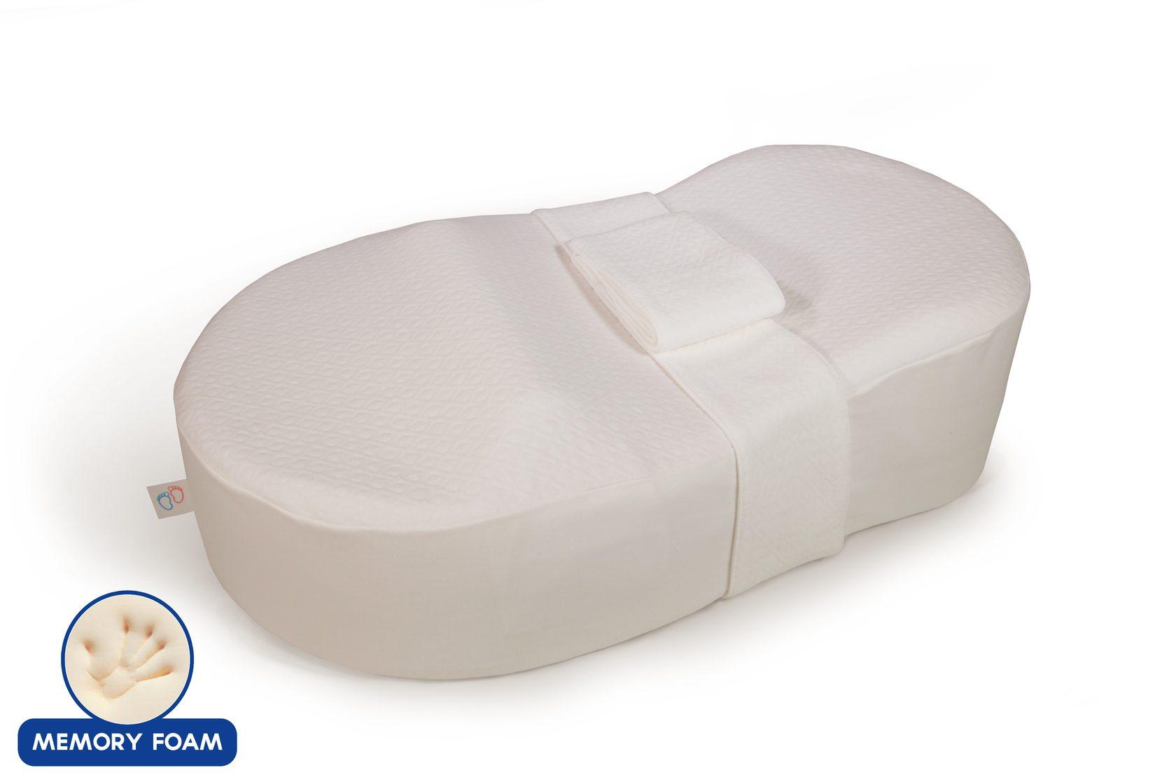 Кокон для новорожденного Седьмое Небо Люкс из пенополиуретана MemoryFoam с доп чехлом