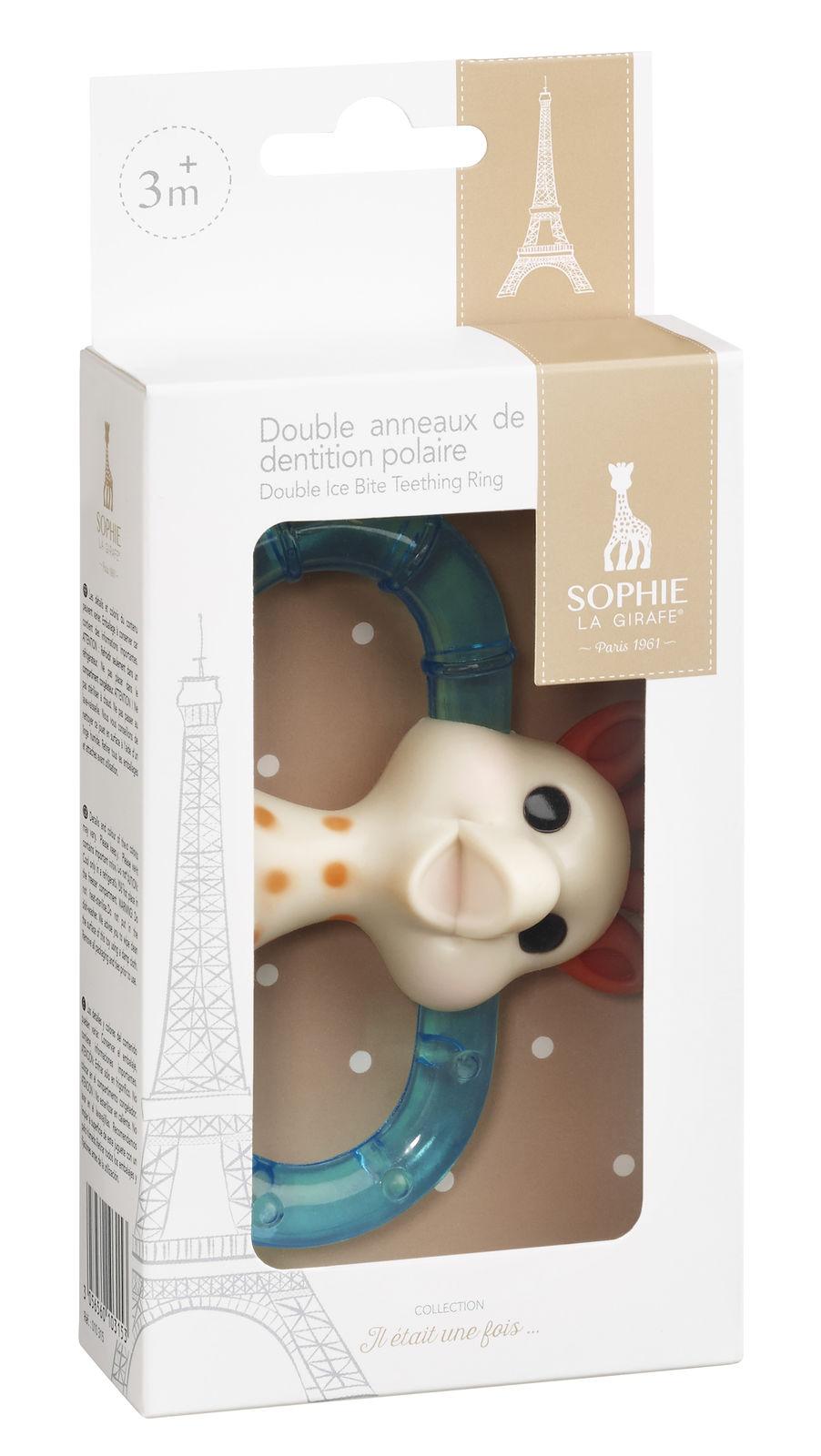 Двойное кольцо для прорезывания с охлаждающим эффектом Sophie la girafe