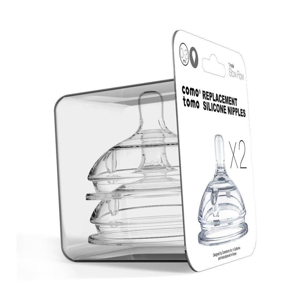 Набор сосок для бутылочки Comotomo Natural Nipple Packs