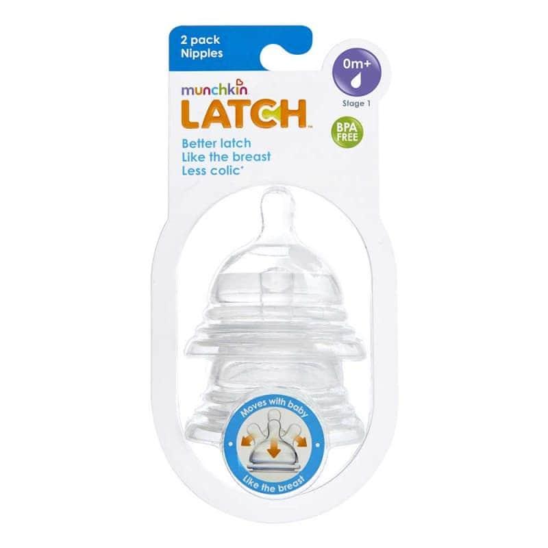LATCH Munchkin соска силиконовая 0+ 2 шт.