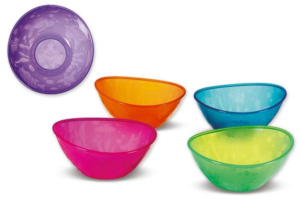 Munchkin набор детских цветных мисок 5шт. 6+
