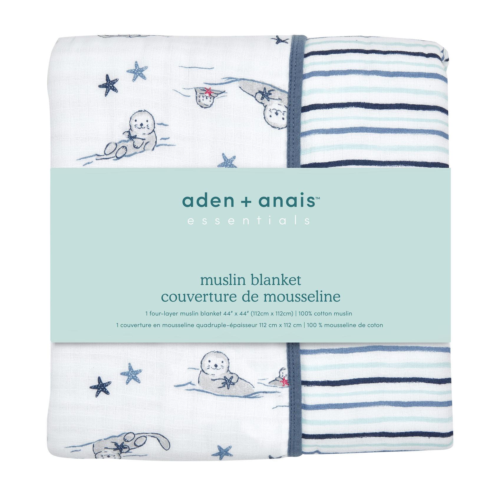 Одеяло из муслина Seashore 112х112 otters