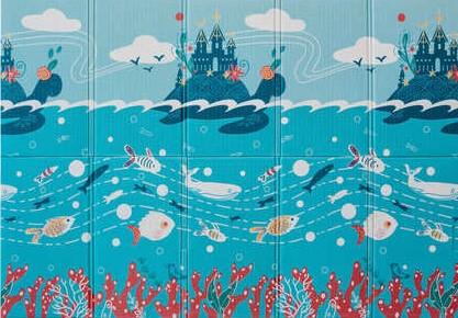 Портативный коврик Portable 140*200*1см Подводный мир Parklon