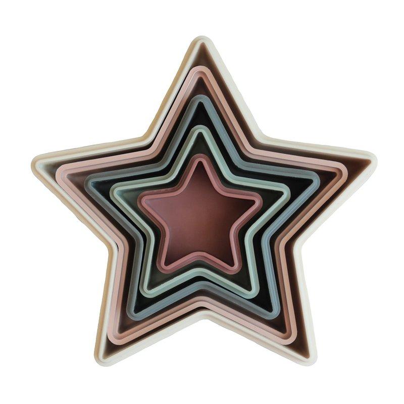 Пирамидка-формочки Mushie Nesting Star
