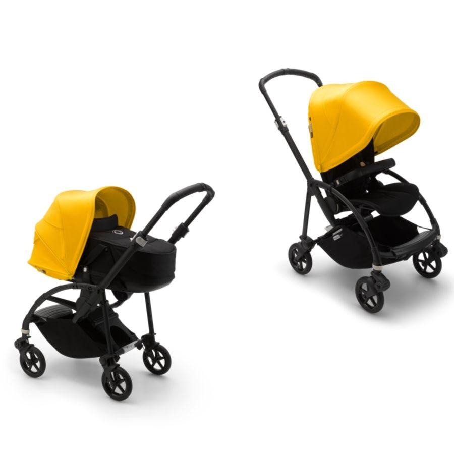 Коляска 2в1 Bugaboo Bee6 Black/Black/Lemon Yellow