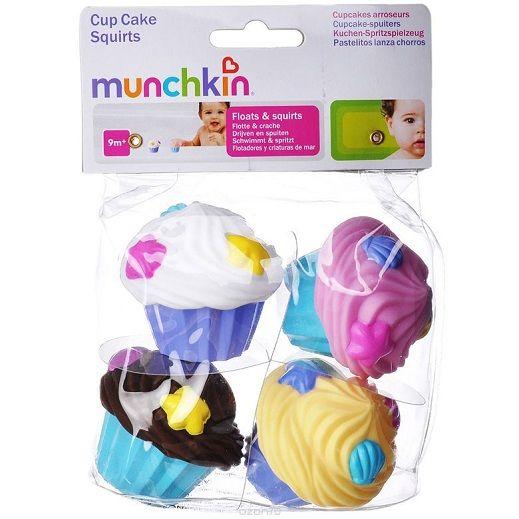Munchkin игрушки для ванны брызгалки Кексики 4 шт.9+