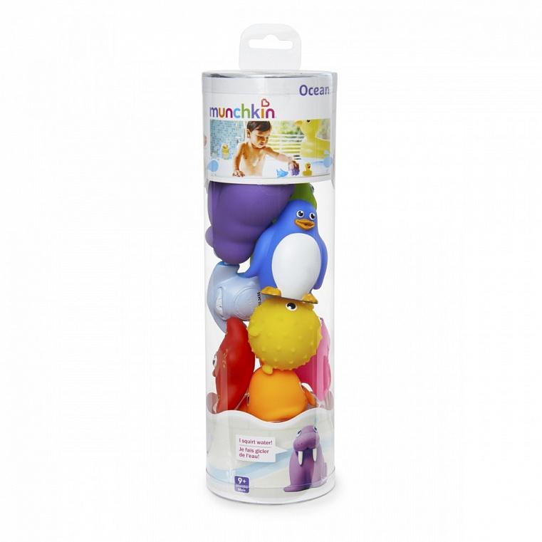 Munchkin игрушки для ванны Морские животные 8 шт от 9 мес