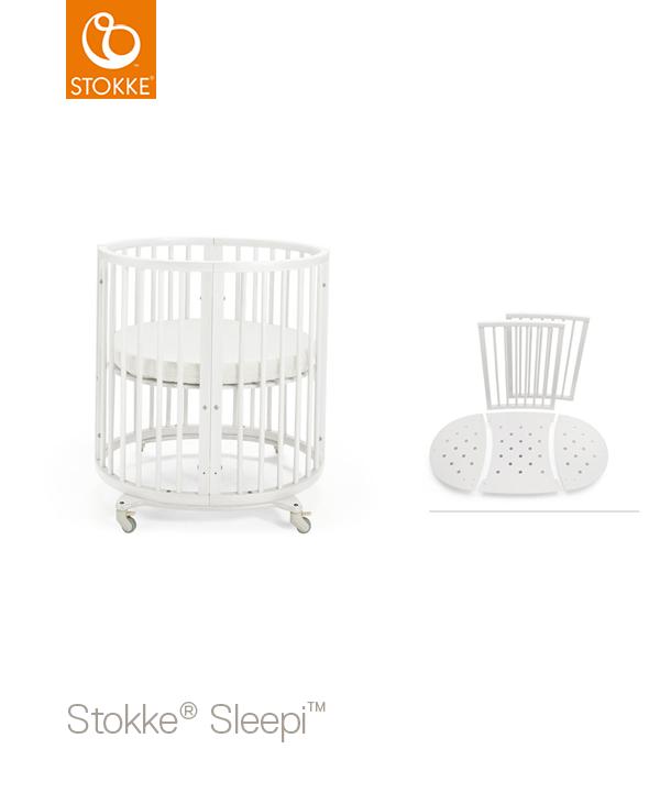 Кроватка Stokke Sleepi Mini 2 в 1 с комплектом расширения и матрацем