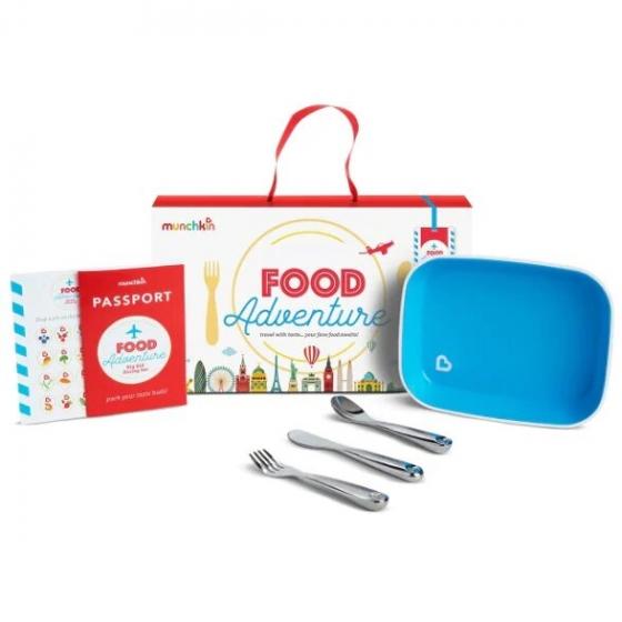 Munchkin набор обеденный детский Food Adventure™, с 18 мес. голубой