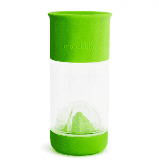 Munchkin поильник-непроливайка MIRACLE® 360° для фруктовой воды 360* 414мл от 4лет зеленый