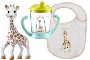 Набор с поильником и игрушкой Жираф Софи