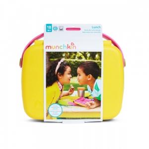 Munchkin контейнер Lunch™ с делениями для хранения питания, ложкой и вилкой 18+