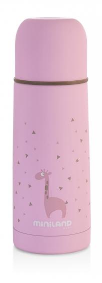 Детский термос для еды и жидкостей Silky Thermos розовый 350мл