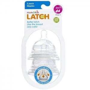 LATCH Munchkin соска силиконовая 3+ 2 шт.