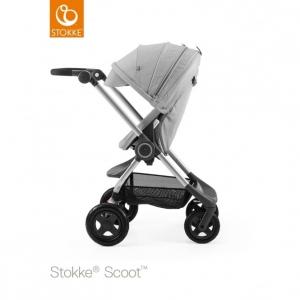 Прогулочная коляска Stokke SCOOT V3 с сиденьем Grey Melange
