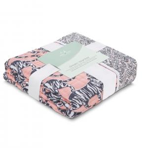 Одеяло из муслинового хлопка White label Pacific paradise 120*120см