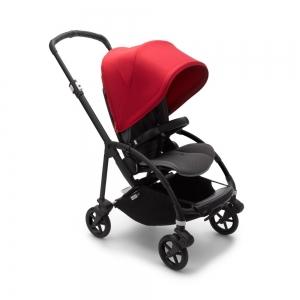 Прогулочная коляска Bugaboo Bee6 Black/Grey Melange/Red