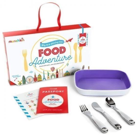 Munchkin набор обеденный детский Food Adventure™, с 18 мес. фиолетовый