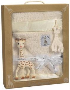 Подарочный набор Жираф Софи с покрывалом