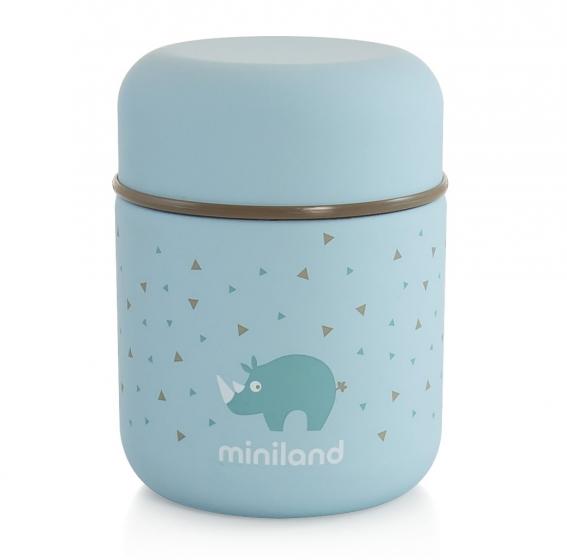Детский термос для еды и жидкостей Silky Thermos Mini голубой 280мл