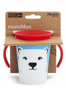 Munchkin поильник-непроливайка MIRACLE 360 ЭКО с ручками 177мл 06+