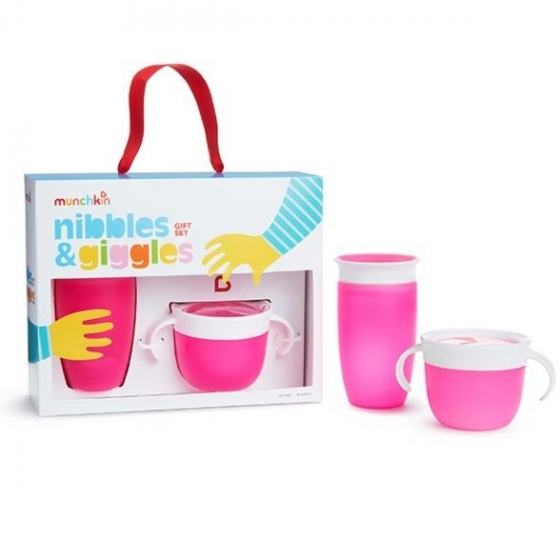 Munchkin подарочный набор Nibbles & Giggles™ , Розовый