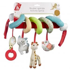 Спираль с висящим игрушками Жираф Софи