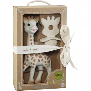 Игрушка жираф+жевательная резиновая пустышка