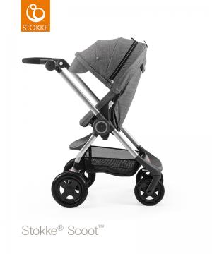 Прогулочная коляска Stokke SCOOT V3 с сиденьем Black Melange