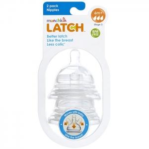 LATCH Munchkin соска силиконовая 6+, 2 шт.