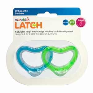 LATCH munchkin пустышка ортодонтическая силиконовая 6+ 2 шт.