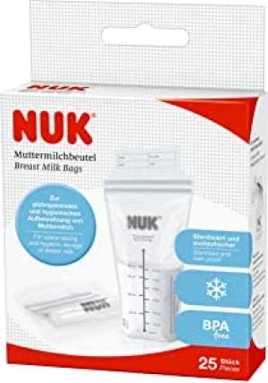 NUK пакеты стерильные для хранения грудного молока 25 шт.