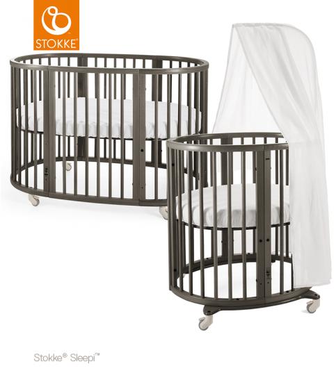 Кровать Stokke Sleepi Mini 2 в 1 Hazy Grey