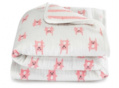 """Фланелевый мини плед """"Bunny Pink"""" Aden by Aden + Anais"""