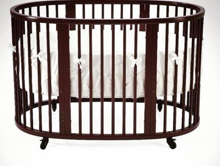 Кроватка большая SLEEPI WALNUT BROWN