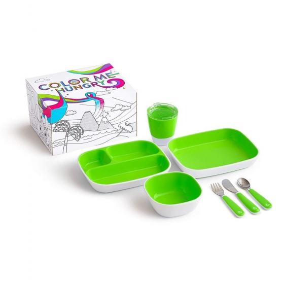 Munchkin набор посуды Splash™ 7 предметов зеленый
