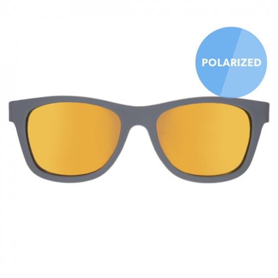 С/з очки Babiators Blue Series Polarized Navigator. Островитянин (The Islander). Серые. Оранжевые зеркальные линзы.  Big Kid (6+)
