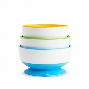 Munchkin набор детских тарелок на присосках 3шт. 18+