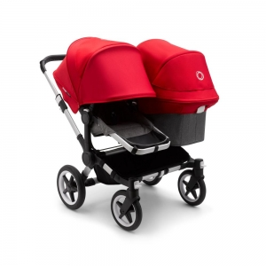 Коляска для погодок Bugaboo Donkey3 Duo Alu/Grey Melange/Red