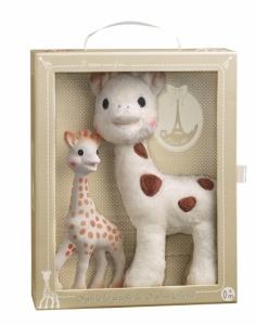 Набор Жирафик Софи + Софи Чери (25 см плюшевый + Sophie la girafe (в подарочной упаковке))