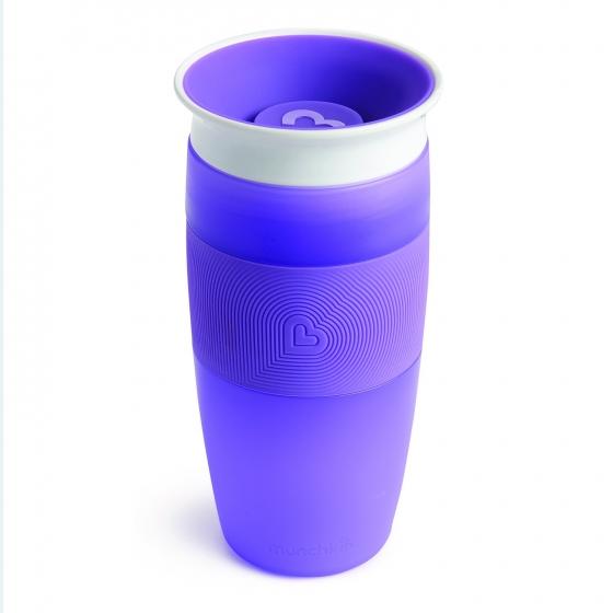 Munchkin поильник-непроливайка 360° 414 мл.18+ фиолетовый