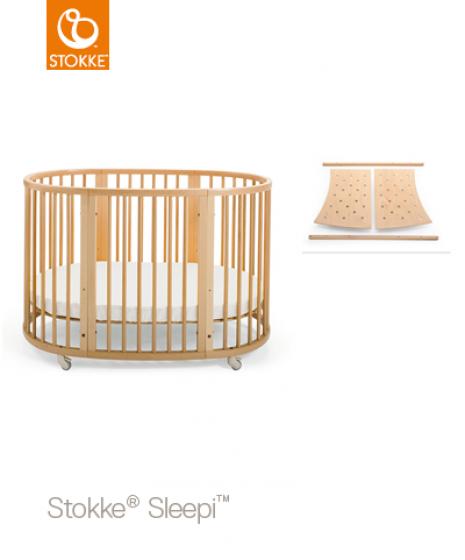 Кроватка большая Sleepi Bed 2 в 1 Junior Natural
