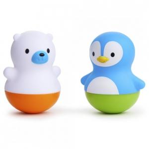 Munchkin Игрушки для ванной поплавки Медведь и Пингвин с 6 месяцев