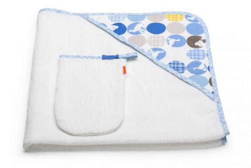 Stokke® Полотенце с капюшоном, Голубое