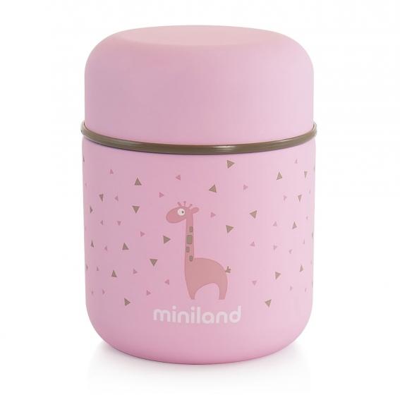 Детский термос для еды и жидкостей Silky Thermos Mini розовый 280мл
