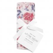 Муслиновая пеленка White label Watercolor garden-roses 120*120см