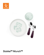 Stokke MUNCH Предметы первой необходимости из набора детской посуды, Мятный