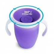 Munchkin поильник с крышкой MIRACLE® 360° непроливайка, с ручками 207мл. 6+
