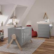 Кроватка Micuna Swing Relax 120*60 Dark Grey/Waterwood